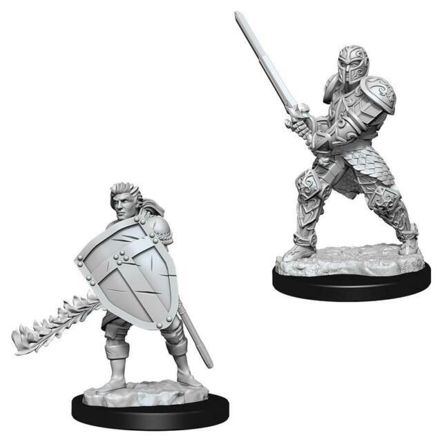Male Human Fighter - Nolzur's Marvelous Unpainted Miniatures 0