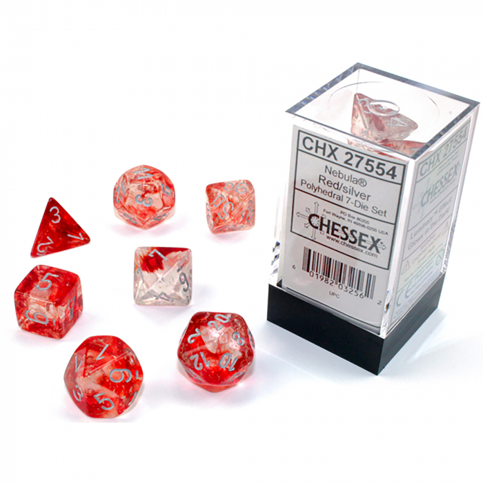 Nebula Luminary Red/Silver Polyhedral 7-Die Set [1]