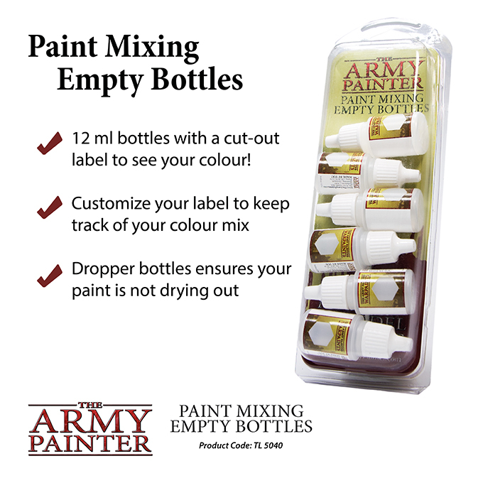 Paint Mixing Empty Bottles - The Army Painter 1
