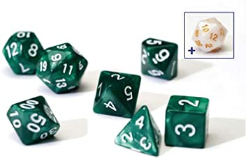 Pearl Green Poly Set - Sirius Dice 0
