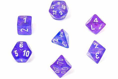 Poly 7 Set: Borealis Purple/white 0