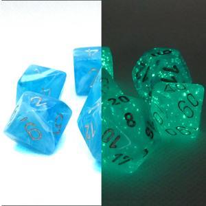 Poly 7 Set: Luminary Sky w/silver - Chessex 1