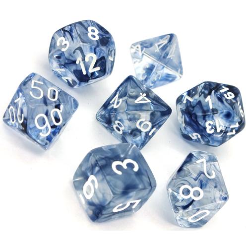 Poly 7 Set: Nebula Black/white - Chessex 0
