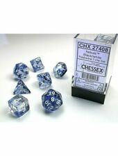 Poly 7 Set: Nebula Black/white - Chessex 1