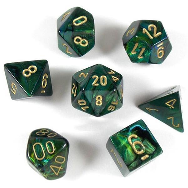 Poly 7 Set: Scarab Jade/gold - Chessex 0