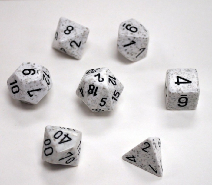 Speckled Polyhedral 7-Die Set: Arctic Camo [0]