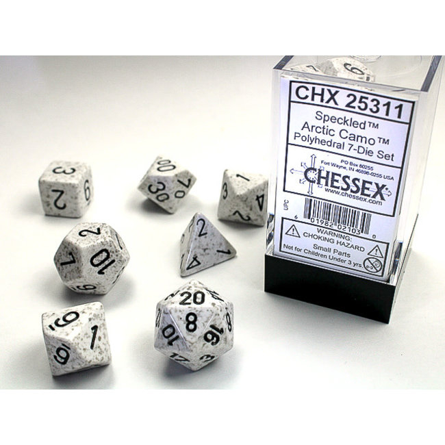 Speckled Polyhedral 7-Die Set: Arctic Camo [1]