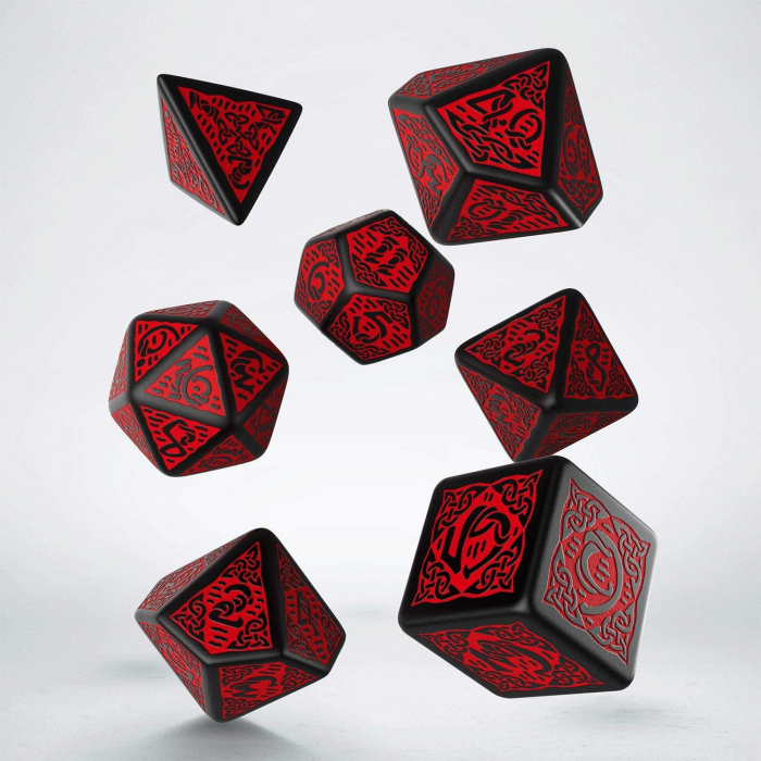 Q-Workshop Celtic Black & red Dice Set 0