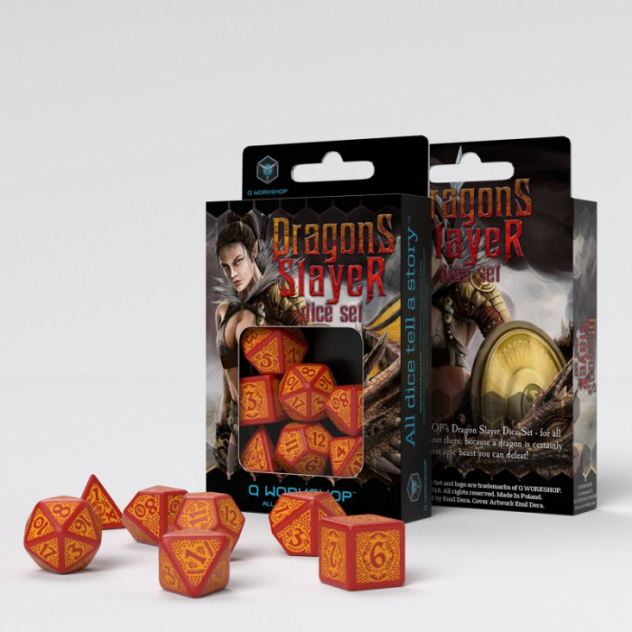 Dragon Slayer Red & orange Dice Set - Q-Workshop  0