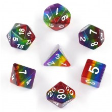 Rainbow Translucent Poly Set - Sirius Dice 0