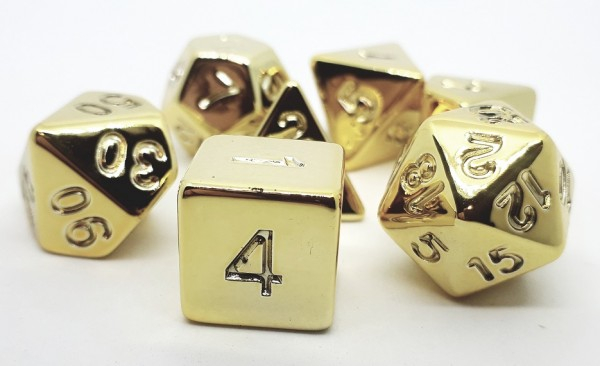Poly 7 Plastic Die Set - Shiny Gold [0]