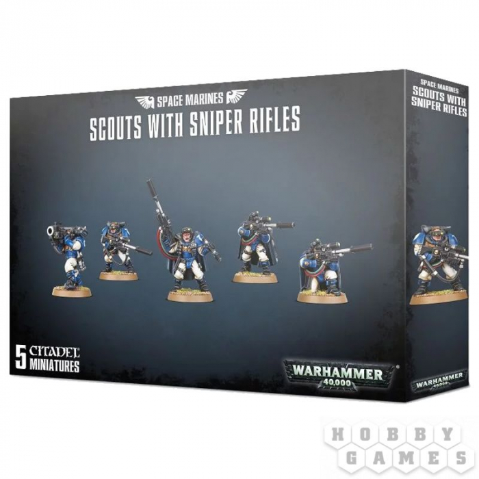 Space Marines Scouts With Sniper Rifles 0