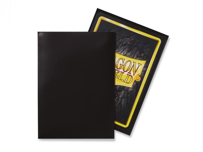 Standard Sleeves: Black 63x88mm (100 buc) - Dragon Shield 1
