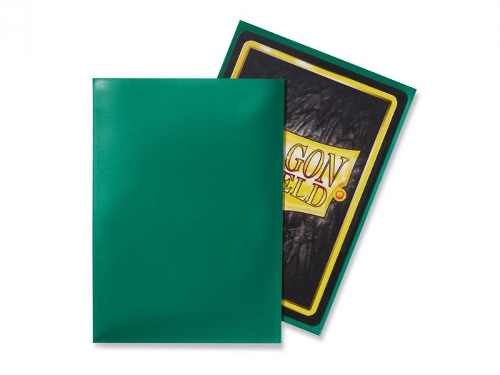 Standard Sleeves: Green 63x88mm (100 buc) - Dragon Shield 1