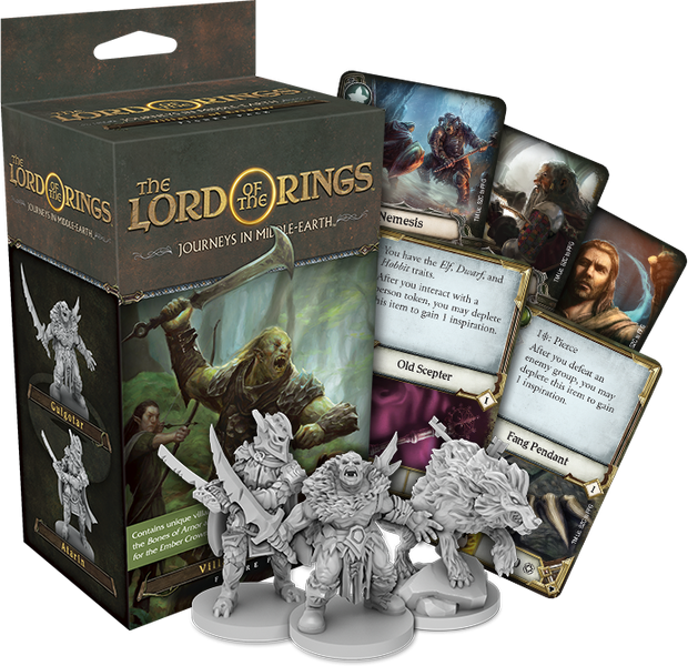 The Lord of the Rings: Journeys in Middle-Earth Board Game - Villains of Eriador Figure Pack (Extensie) 1