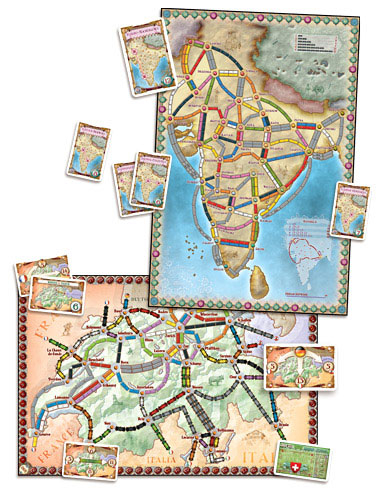 Ticket To Ride India + Switzerland: Map Collection (Extensie) - EN [2]