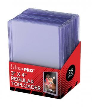 "Toploader - 3"" x 4"" Clear Regular (25 pieces) - UP [0]"