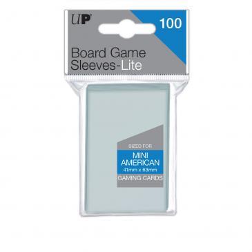 UP - Lite Mini American Board Game Sleeves 41mm x 63mm (100 Sleeves) 0
