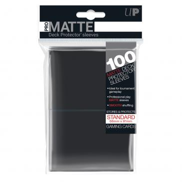 Standard Sleeves: PRO-Matte Black 66x91mm (100 buc) - UP 0