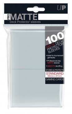 UP - Standard Deck Protector - PRO-Matte Clear (100 Sleeves) 0