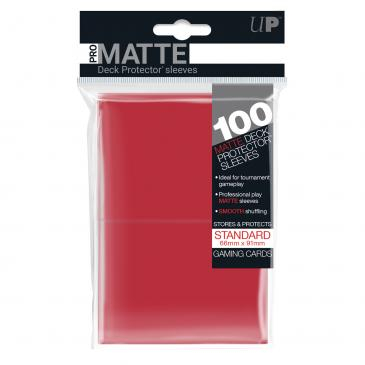 Standard Sleeves: PRO-Matte Red 66x91mm (100 buc) - UP 0