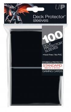 Standard Sleeves: Black 66x91mm (100 buc) - UP 0
