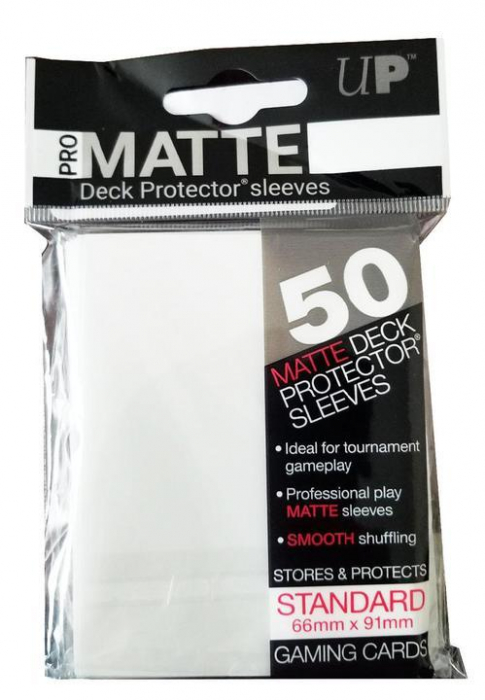 UP - Standard Sleeves - Non-Glare - Clear Pro Matte (50 Sleeves) 0