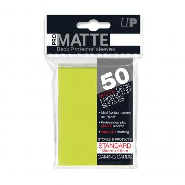 Standard Sleeves: Pro-Matte-Non Glare Bright Yellow 66x91mm (50 buc) - UP 0