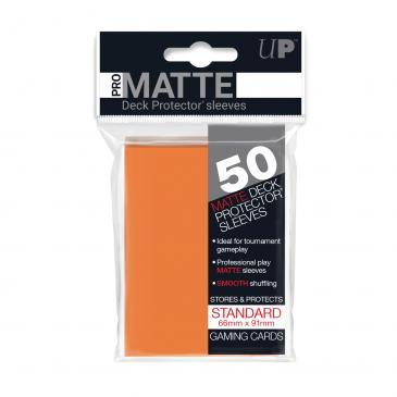 Standard Sleeves: Pro-Matte-Non Glare Orange 66x91mm (50 buc) - UP 0