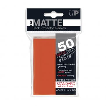 Standard Sleeves: Pro-Matte-Non Glare Peach 66x91mm (50 buc) - UP 0