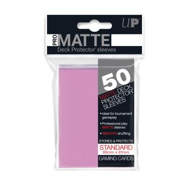 Standard Sleeves: Pro-Matte-Non Glare Pink 66x91mm (50 buc) - UP 0