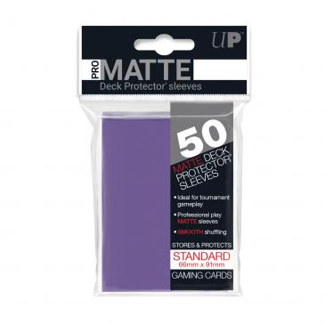 Standard Sleeves: Pro-Matte-Non Glare Purple 66x91mm (50 buc) - UP 0