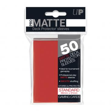 Standard Sleeves: Pro-Matte-Non Glare Red 66x91mm (50 buc) - UP 0
