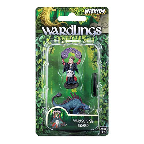 Wardlings Painted RPG Figures: Boy Warlock & Lizard 1