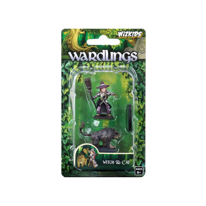 Wardlings Painted RPG Figures: Girl Witch & Witch's Cat 0