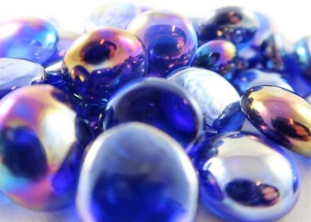 Chessex Gaming Glass Stones in Tube - Iridized Dark Blue (40) [1]