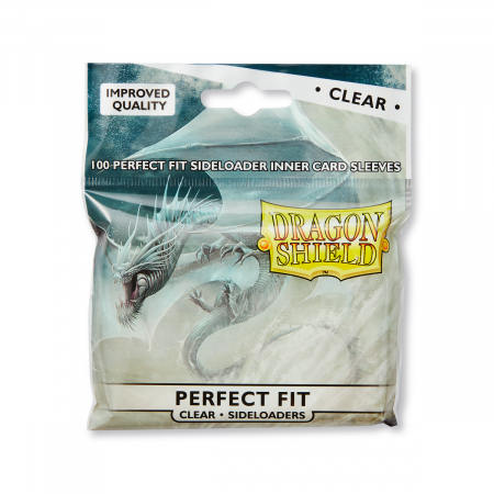 Standard Perfect Fit Sideloading Sleeves: Clear 63x88mm (100 buc) - Dragon Shield0