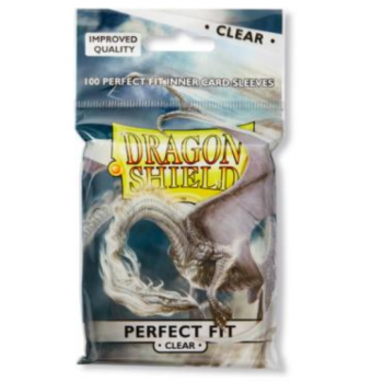 Standard Perfect Fit Sleeves: Clear 63x88mm (100 buc) - Dragon Shield0