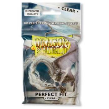 Standard Perfect Fit Sleeves: Clear 63x88mm (100 buc) - Dragon Shield [0]
