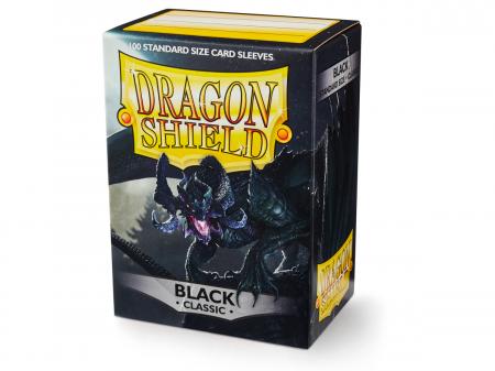 Standard Sleeves: Black 63x88mm (100 buc) - Dragon Shield0