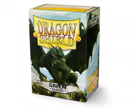 Standard Sleeves: Green 63x88mm (100 buc) - Dragon Shield0