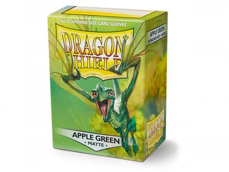 Standard Sleeves: Matte Apple Green 63x88mm (100 buc) - Dragon Shield0