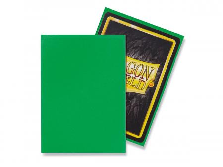 Standard Sleeves: Matte Apple Green 63x88mm (100 buc) - Dragon Shield1