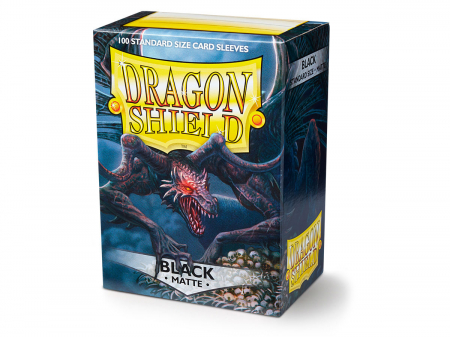 Standard Sleeves: Matte Black 63x88mm (100 buc) - Dragon Shield0
