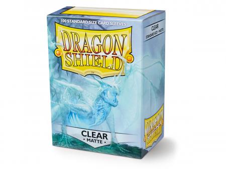 Standard Sleeves: Matte Clear 63x88mm (100 buc) - Dragon Shield [0]