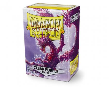 Standard Sleeves: Matte Clear Purple 63x88mm (100 buc) - Dragon Shield0