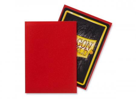 Standard Sleeves: Matte Crimson 63x88mm (100 buc) - Dragon Shield [1]