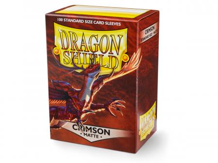Standard Sleeves: Matte Crimson 63x88mm (100 buc) - Dragon Shield [0]