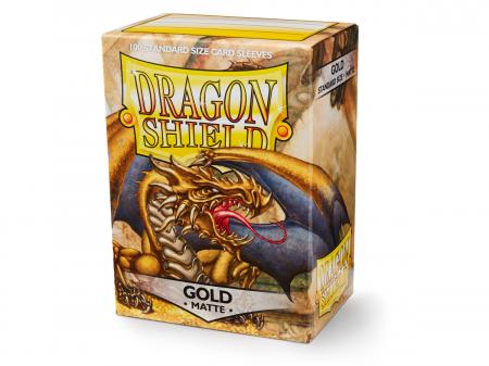 Dragon Shield Standard Sleeves - Matte Gold (100 Sleeves)0
