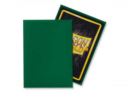 Standard Sleeves: Matte Green 63x88mm (100 buc) - Dragon Shield1